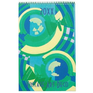 2016 Vintage Art Deco Pochoir Patterns Calendar