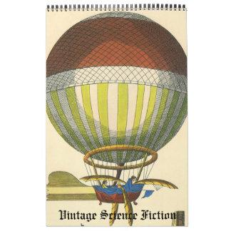 2016 Vintage Illustration Science Fiction Future Calendar