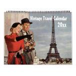 2016 Vintage Illustration Travel n Transportation Calendar