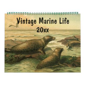 2016 Vintage Sea Creatures and Ocean Marine Life Calendar