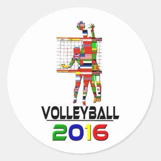 2016: Voleibol Pegatina Redonda