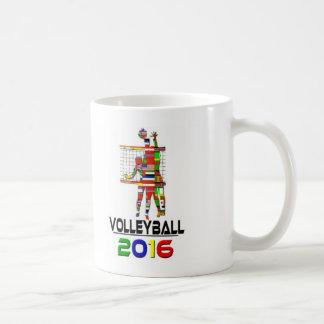 2016: Voleibol Taza Básica Blanca