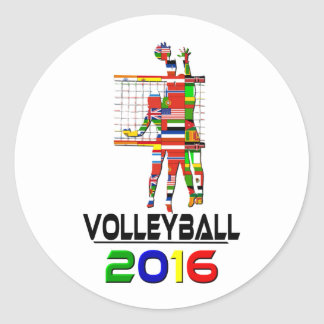 2016:Volleyball Classic Round Sticker