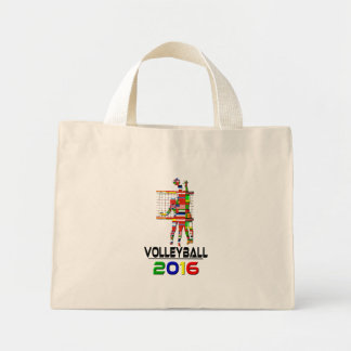 2016:Volleyball Mini Tote Bag