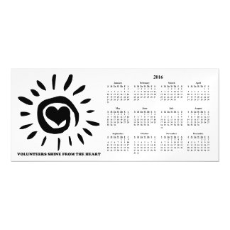 2016 Volunteers Shine from the Heart Calendar Magnetic Card