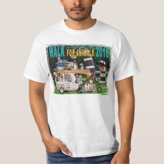 2016 Walk for Animals Value T-Shirt: One Sided Shirt