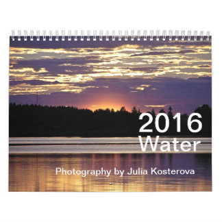 2016 Water Photography by Julia Kosterova Calendar