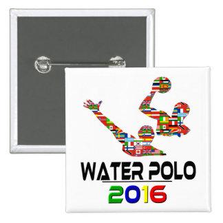 2016:Water Polo Pinback Button
