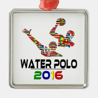 2016: Water Polo Metal Ornament