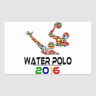 2016: Water Polo Rectangular Sticker