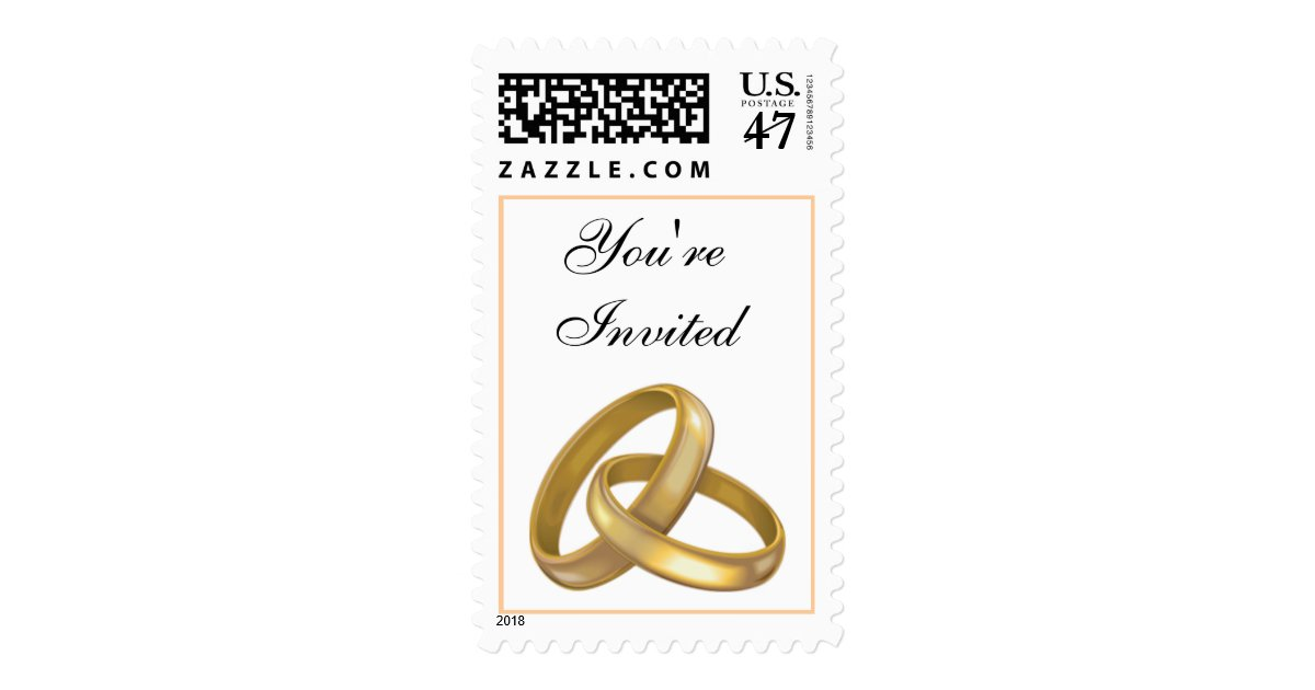 2016 wedding ring stamp zazzle With wedding ring stamps
