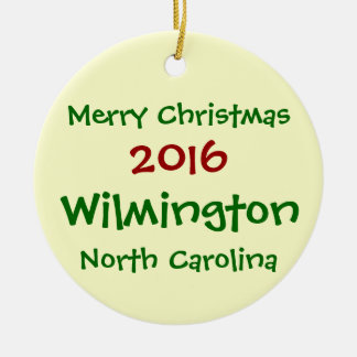 2016 WILMINGTON NORTH CAROLINA CHRISTMAS ORNAMENT
