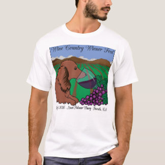 2016 Wine Country Wiener Fest T-shirt on white