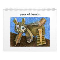 2016 year of beasts calendar