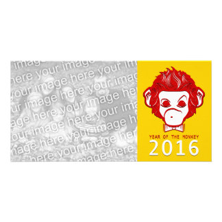 2016 year of the monkey (bowtie) photo card template