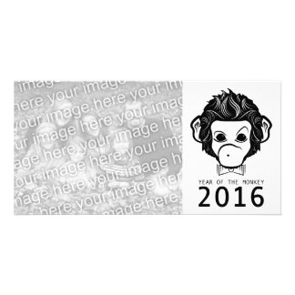 2016 year of the monkey (bowtie) customized photo card