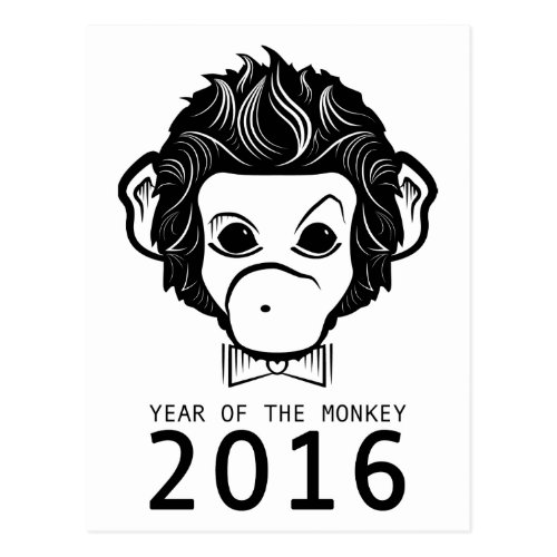 2016 year of the monkey (bowtie) postcard Sales 4017