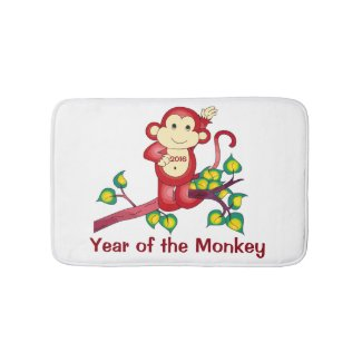 2016 Year of the Monkey Chinese New Year Bath Mats