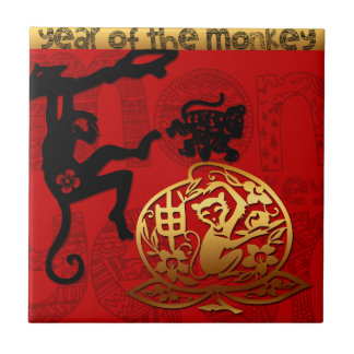 2016 Year of The Monkey Chinese New Year Ceramic Tile