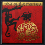 "2016 Year of The Monkey Chinese New Year Cloth Napkin<br><div class=""desc"">8 February 2016 – 27 January 2017: Fire Monkey. Customizable cloth napkins. You can easily change text color,  font,  size and position by clicking the customize button.</div>"