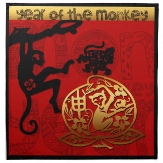 2016 Year of The Monkey Chinese New Year Cloth Napkin