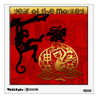 2016 Year of The Monkey Chinese New Year WallDecal Wall Sticker