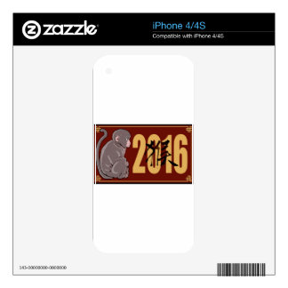 2016 Year of the Monkey Graphic iPhone 4S Decals