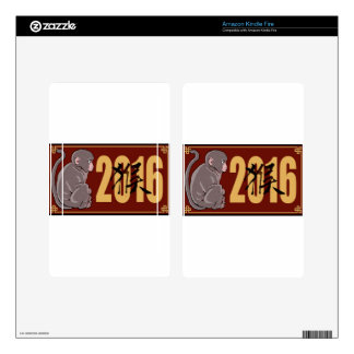 2016 Year of the Monkey Graphic Kindle Fire Skin
