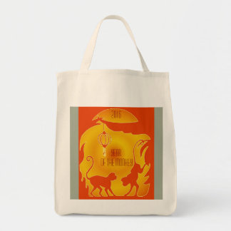 2016 Year of the Monkey Grocery Tote Bag