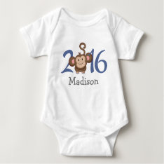 2016 Year of the Monkey (personalize version) Baby Bodysuit at Zazzle