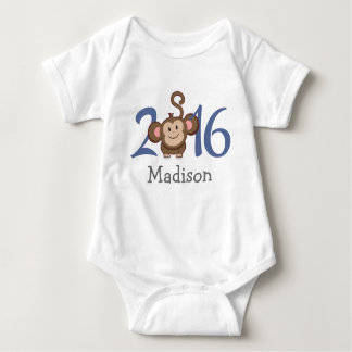2016 Year of the Monkey (personalize version) Baby Bodysuit