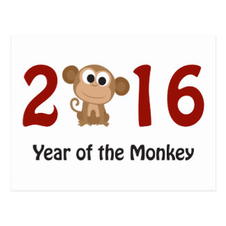 2016 Year of the Monkey Postcard