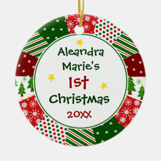 2016 Your Baby's Photo and 1st Christmas Ceramic Ornament