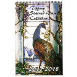 2017 2018 Tiffany Stained Glass Nature Calendar