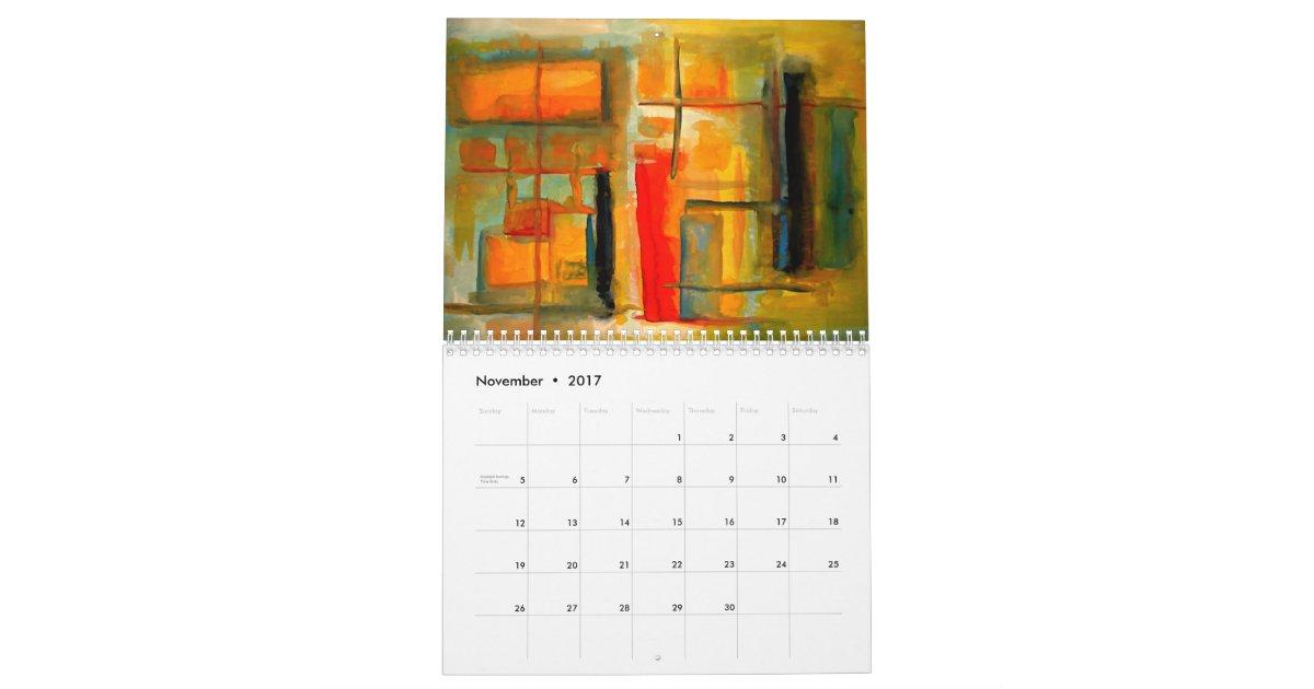 Calendar Abstract Art : Abstract art calendar zazzle