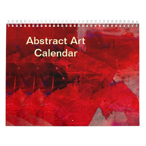 Calendar Abstract Art : Abstract art calendar zazzle