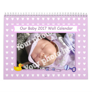 2017 Baby Calendar Add Your Own Babies Photos