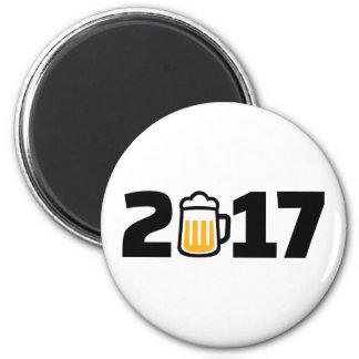 2017 beer 2 inch round magnet
