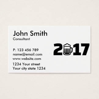2017 beer business card