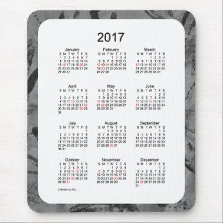 2017 Black Holiday Art Calendar by Janz Mouse Pad