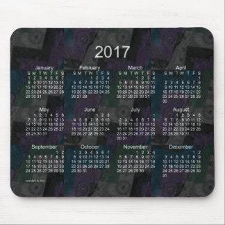 2017 Black Patchwork Calendar by Janz Mouse Pad