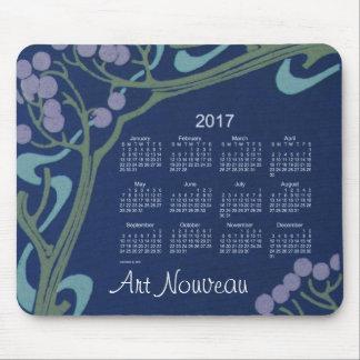 2017 Blue Art Nouveau Calendar by Janz Mouse Pad