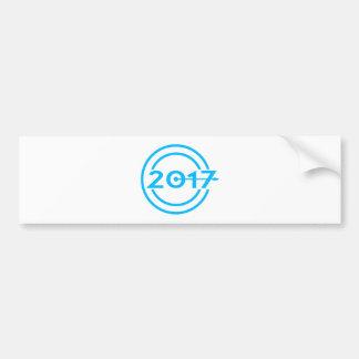 2017 Blue Date Clock Bumper Sticker