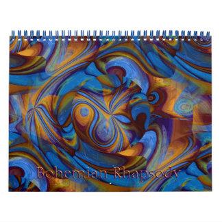 2017 Bohemian Rhapsody Calendar of Abstract Art