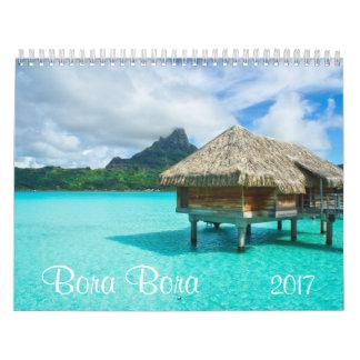 2017 Bora Bora calendar