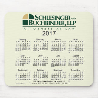 2017 Business Calendar by Janz Custom Design Mouse Pad