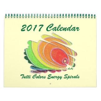 2017 Calendar Art Colored Energy Spirals Standard