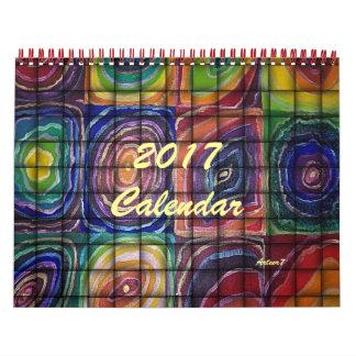 2017 Calendar Art Weaved Square Spirals Standard