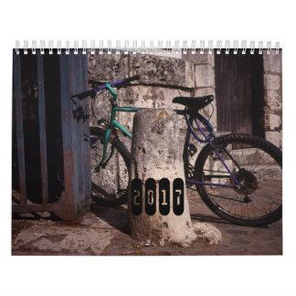 2017 calendar - Bicycles