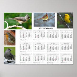 """2017 Calendar Birds 19"""" x 13"""", Poster Paper(Matte)"""
